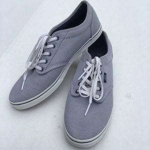 Vans Blue/White Striped Lace Up Sneakers, Size 10